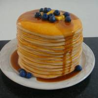 Pancakes! This is a version of the cake posted on here by LadyViola which I made for my son-in-law for Father's Day. Like hers, it's...