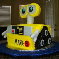 Wall-E Birthday Cake I made this for my son's 5th birthday after looking at other cakes on this site and a Wall-E sticker book. The cake is 4 layers using...