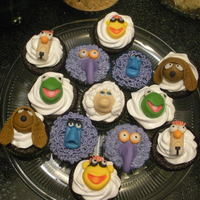 Muppets Cupcakes chocolate cupcake with cheesecake filling.
