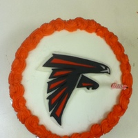 Falcon Cake Made for a coworker who loves the Falcons. It was nothing fancy, but he loved it. The falcon was made from MMF.