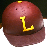 Lassiter Baseball Cap this sat on top of a sheet cake for my son's high school baseball banquet
