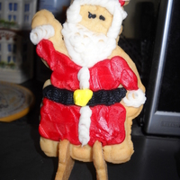 Stand-Up Hoho Sugar Cookies  This is the first of three batches of Santa Stand-up Sugar Cookies, I made for my nieces and nephew to share at school. The last batch I...