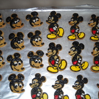 Mickey Mouse Sugar Cookies   Sugar cookies iced with royal icing.. Nephew loved them for his Happy Birthday.