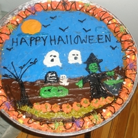 Halloween BC cookie cake