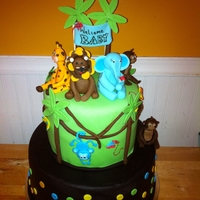 Jungle Themed Baby Shower Cake!   Had so much fun doing this cake! hope everyone enjoys it just as much as myself! :)