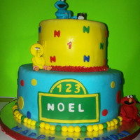Sesame Street  here is a sesame street cake, It was very last minute and unfortunately I was unable to take my time with the characters, but still loved...