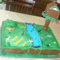 "Ginormous Go Diego Go Cake a huge 18x24 , 4"" tall cake....for a go diego go birthday party"