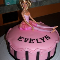 Barbie Cake mmf with real barbie on top