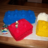 Lego Cake all made with butter cream and marshmallows