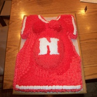 Baby Shower this is a baby shower cake of a Nebraska fan...
