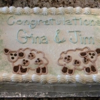 Lamb Baby Shower Cake This was decorated to match bedding that mommy-to-be was going to have in her baby's room.