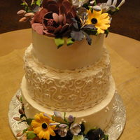 Wedding Cakes Butter cream and hand made/painted gum paste flowers. TFL!