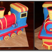 Train Cake - Primary Colours!