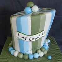 Stripey Green & Blue Wonky Father's Day Cake!