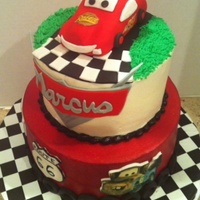 Lightening Mcqueen Cars Cake Disney Lightening McQueen Cars Cake - Disney