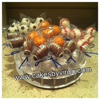 Sports Themed Cake Pops Basketball Football Baseball Soccer Sports themed cake pops - basketball, football, baseball, soccer