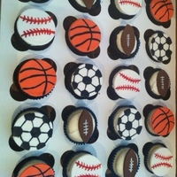 Sports Themed Cupcake Toppers Sports themed cupcake toppers