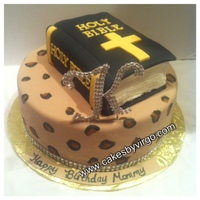 Cheetah Print Cake With Bible Cheetah print cake with bible