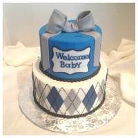 Argyle Baby Shower Cake Argyle baby shower cake