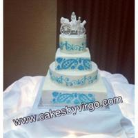 Stenciled Buttercream Cake Stenciled Buttercream Cake