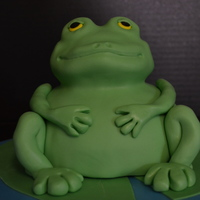 Frog Cake My attempt of Debbie Brown's Frog Cake for our niece who loves anything green, aliens, and of course, frogs!