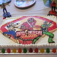 Power Rangers Samurai Power Rangers Cake for 6 y.o. grandson. First time doing a FBCT.