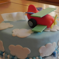 Airplane Cake chocolate cake with chocolate ganache. all is made in fondant :)