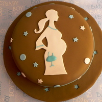 Baby Shower  I don't rememer who post the lady pregnant pattern, but thanks a lot. I made this cake for a baby shower friend, is a buttermilk cake...