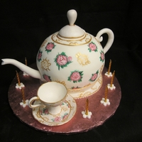 Teapot And Teacup Cake