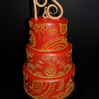 Bollywood Wedding Cake   My first one in this style, loved doing it!