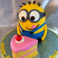 Minion Cake Saw a similar cake online and loved it so made this for my daughters 3rd birthday.