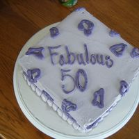 Purple Leopard I made a purple leopard print cake for my Aunt's 50th birthday. All from butter cream icing