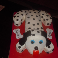 Dalmation Cake Cake done for twins 2nd birthday.