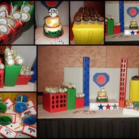 Donated Charity Sweet Table Super Hero Themed   donated charity sweet table Super Hero themed :)