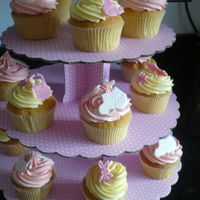 Christening Vanilla cup cakes