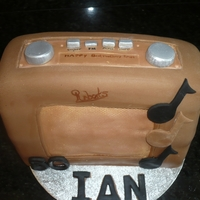 Roberts Radio Vanilla sponge cake - first go at doing anything like this learnt a few things to do different next time also to take a pic after I cleaned...