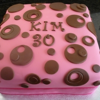 30Th Birthday Chocolate Fudge Cake Large square double choc fudge cake with fondant icing