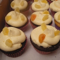Ginger Bread Cupcakes With Orange Butter Cream Gingerbread cupcakes topped with orange butter cream