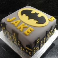 Batman Cake Square batman cake.