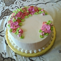 "A ""thank You"" Cake For A Nice Lady This was a from-scratch lemon cake with freshly made lemon curd filling, ""Fluffy American Buttercream"" and royal icing flowers. I..."