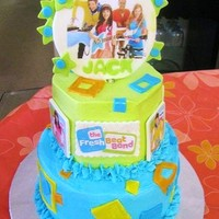 Fresh Beat Band All buttercream with gumpaste accents