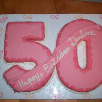 Number 50 Birthday Cake