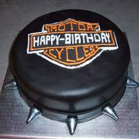 Harley Davidson Cake Chocolate Fudge Cake with Mint Chocolate Buttercream icing.