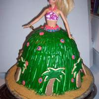 Barbie Luau Cake
