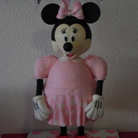 3D Minnie Mouse I made this cake for my Daughters 2nd Birthday - it is the forst cake have made using pipes and supports, it came out better then i could...