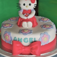 Hello Kitty Hello Kitty Cake designed by a very sweet little girl with Gum Paste Hello Kitty and Bow