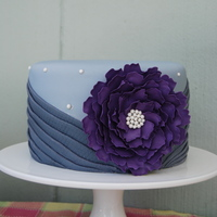 Grey And Purple Pleats With Sugar Flower Grey and Purple pleats with Sugar Flower