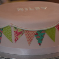 Bunting Cake To Match The Bunting On All The Stationary Bunting Cake to Match the Bunting on all the stationary