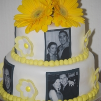 Engagement Photo Cake this was a cake for my best friends engagement party, she is obsessed with photos so what better way to celebrate then with photos of the...