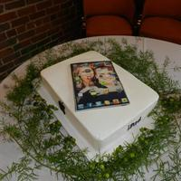 "Loved This Cake Except For The Terrible Greenery The Florist Thought It Needed The Ipad Is Edibleit Was Actually A Photo Copy Of Th Loved this cake (except for the terrible greenery the florist thought it needed)! The ""iPad is edible....it was actually a photo copy..."